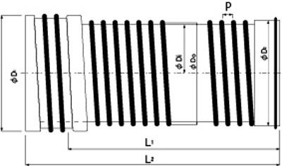 カナヒュームA型ワンタッチ耐震継手付の構造図