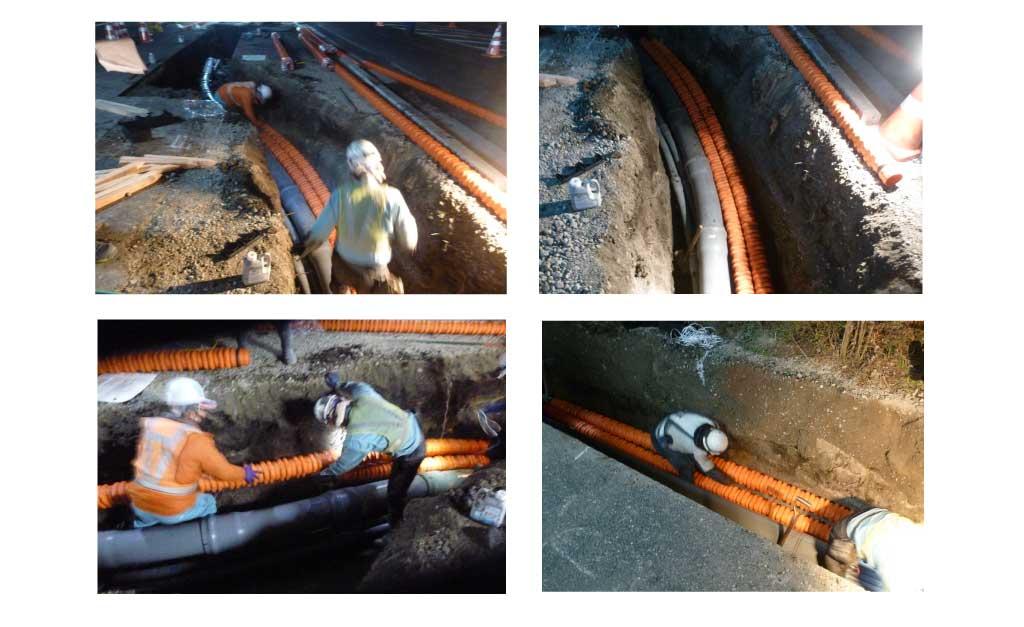 カナレックスMLの電線共同溝の施工事例